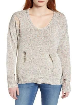 Caslon Shredded Sweater