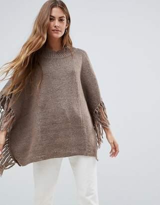 Pieces Joelean Knit Poncho