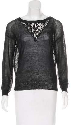 Haute Hippie Linen & Lace Sweater