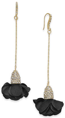 INC International Concepts Inc Fabric-Flower Drop Earrings