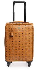 MCM Small Traveler Visetos 21-Inch Trolley Wheeled Suitcase