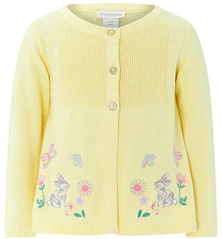 Monsoon Baby Greta Bunny Cardigan