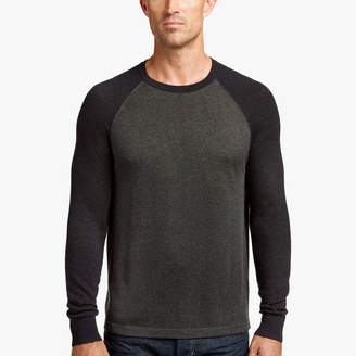 James Perse COTTON CASHMERE RAGLAN SWEATER