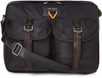 Diesel Black Nylon Laptop Messenger Bag