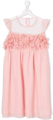 Patrizia Pepe Junior sheer floral dress