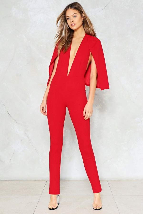 nastygal Cape It Together Jumpsuit