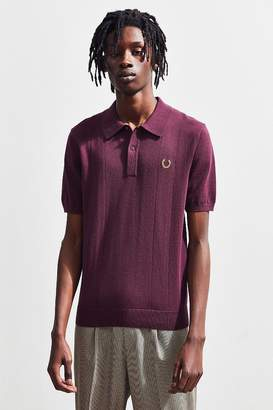 Fred Perry X Miles Kane Pointelle Knit Polo Shirt