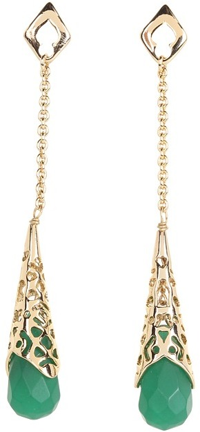 Kendra Scott Tamara Earring (Frosted Green) - Jewelry