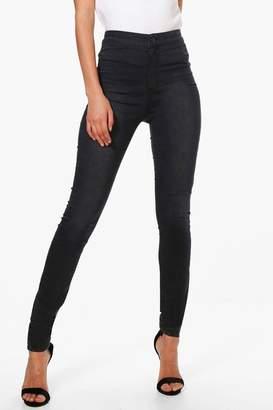 boohoo Tall 40 Leg High Waisted Jeans