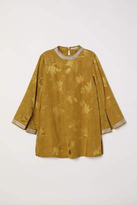 H&M Jacquard-weave Blouse - Yellow
