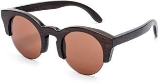Cat Eye Tree Tribe Bamboo Sunglasses - Polarized Lens, Natural Style + Case - Frame Lens
