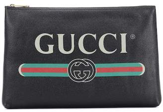 Gucci Printed leather pouch