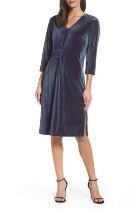 Chelsea28 Stripe Velvet Burnout Dress