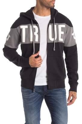 True Religion Colorblock Zip-Up Hoodie