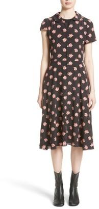 Women's Junya Watanabe Floral Print Crepe De Chine Shirtdress $1,045 thestylecure.com