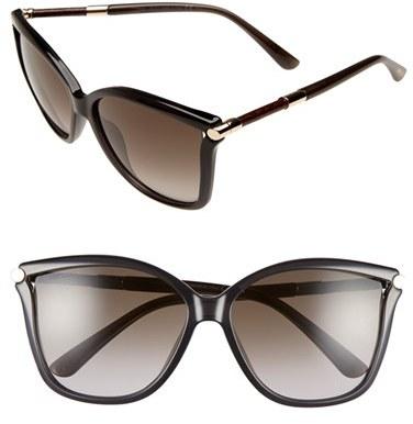 Jimmy ChooWomen's Jimmy Choo 'Tattis' 58Mm Sunglasses - Dark Grey