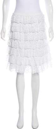Andrew Gn Lace-Trim Knee-Length Skirt