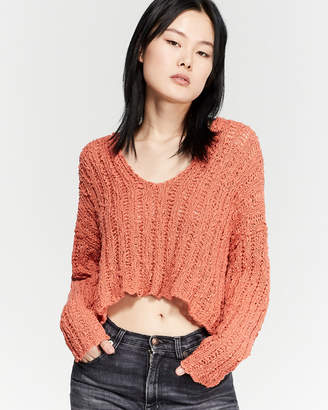 Free People Beach Comber V-Neck Sweater
