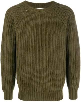 Officine Generale chunky-knit jumper