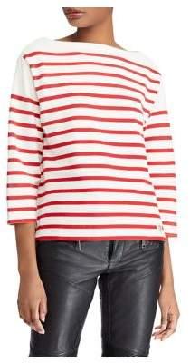 Polo Ralph Lauren Striped Quarter-Sleeve Cotton Sweater a72884a93