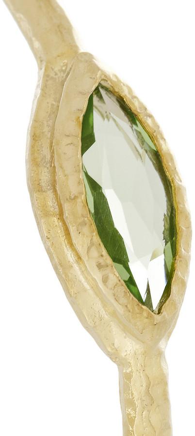 Isharya Nile Nymph gold-plated crystal bangle