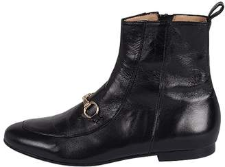 Pascucci Gold-Buckle Black Ankle-Boot