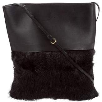 Marni Beaver & Leather Shoulder Bag