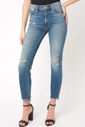 Joe's Jeans The Milla Hi Rise Straight Leg Chewed Hem Jean in Yara Light Denim 27
