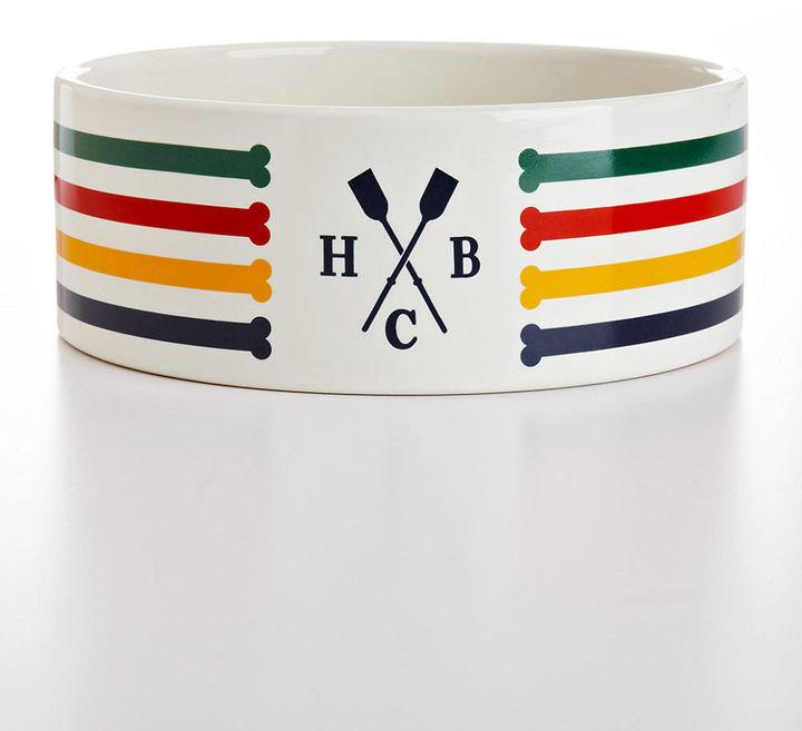 HUDSON'S BAY COMPANY Striped Dog Bowl