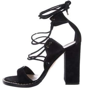 Tamara Mellon Suede Lace-Up Sandals