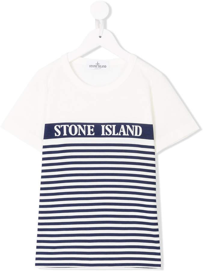 Stone Island Junior striped logo T-shirt