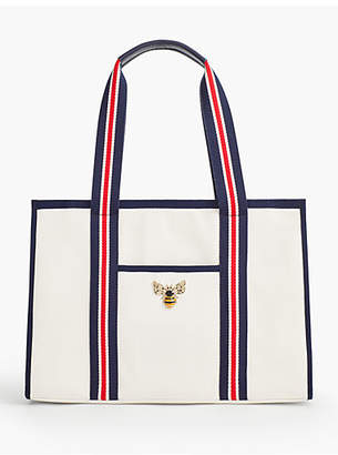 Talbots Canvas Bumble Bee Tote
