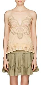Chloé Women's Eyelet-Detailed Cotton Poplin Top-Beige, Tan