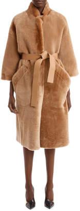 Rochas Reverse Shearling Coat