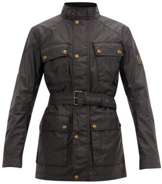 Belstaff Trialmaster Waxed Cotton Field Jacket - Mens - Dark Brown