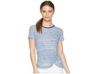 Lauren Ralph Lauren Petite Twist-Front T-Shirt Women's Clothing
