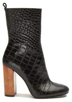 Anne Klein Collection Smith Croco Print Leather Boots