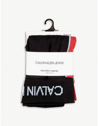 Calvin Klein Modern logo side-stripe leggings