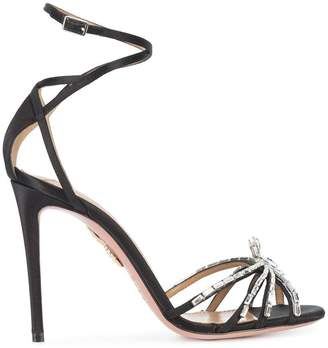 Aquazzura Crystal Spider sandals