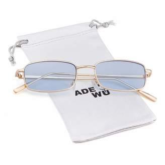 6d4e084a3fc7 clear ADEWU Vintage Steampunk Sunglasses Fashion Metal Frame Lens Shades  for Women