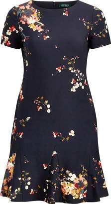 Ralph Lauren Floral-Print Crepe Dress