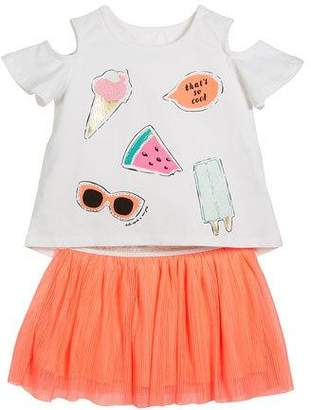 Kate Spade So Cool Cold-Should Tee W/ Tulle Skirt, Size 2-6x