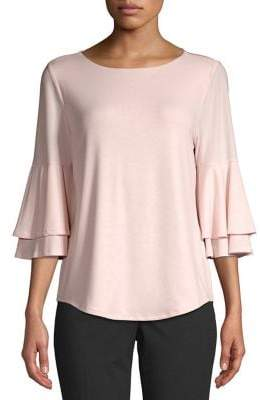 Context Tiered Ruffle Sleeve Blouse