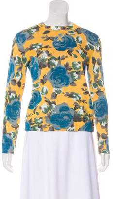 Marc Jacobs Floral Long Sleeve Sweater