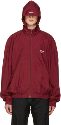 Vetements Burgundy Reebok Edition Classic Track Jacket $990 thestylecure.com