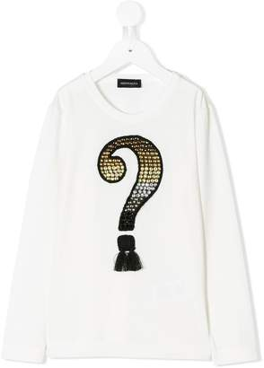 MonnaLisa embellished question mark T-shirt
