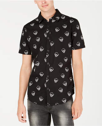 INC International Concepts I.N.C. Men's Sketched Skull Shirt, Created for Macy's