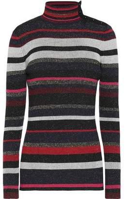 Diane von Furstenberg Metallic Striped Wool-Blend Sweater
