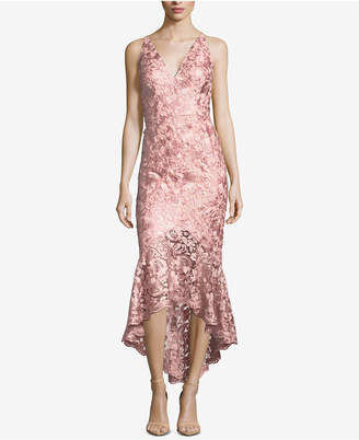 Xscape Evenings Lace High-Low Gown
