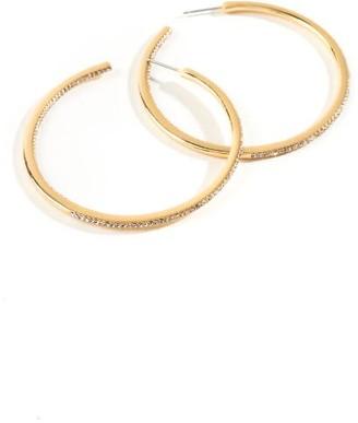 francesca's Brielle Crystal Hoops - Gold